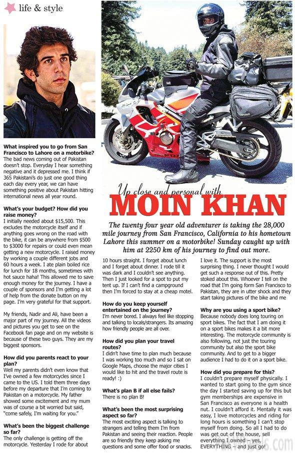 40k KM on a sports Bike from USA to LAHORE SOLO Mission - 275841