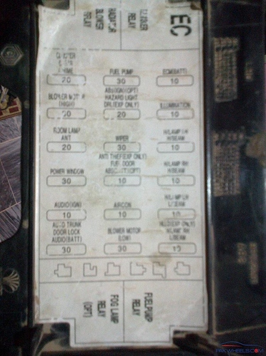 Daewoo Cielo Fuse Box Schematic Diagram Data