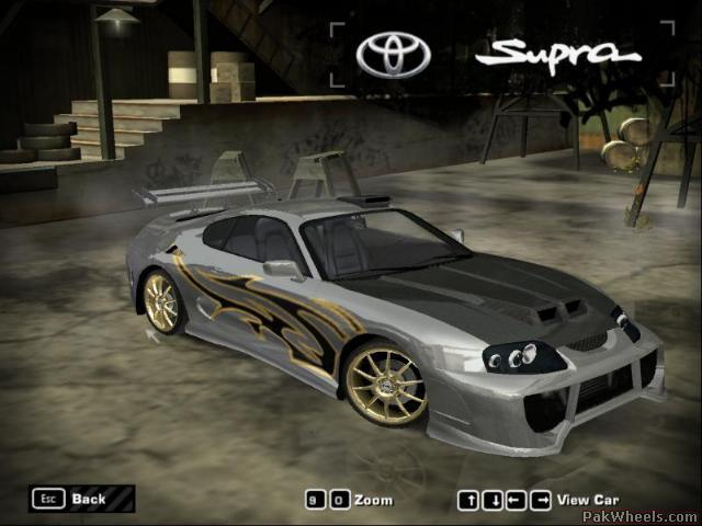 My SUPRA in NFS MW - Car Parts - PakWheels Forums