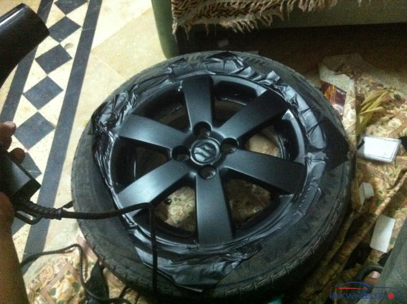 Wrapping Swift Stock Rims With Matte Sheet D I Y