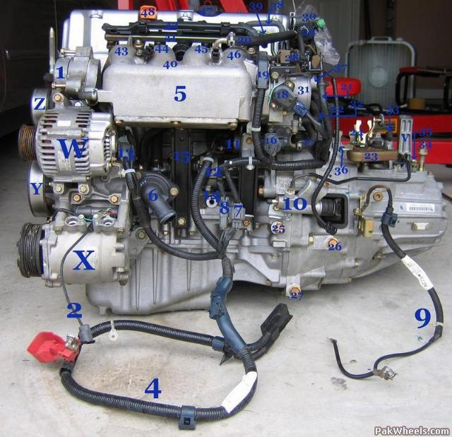 disect n label k20a2 motor (hard game for experts ... e2 rsx engine diagram acura rsx engine diagram #3