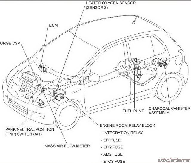 2007 yaris engine diagram  catalog  auto parts catalog and