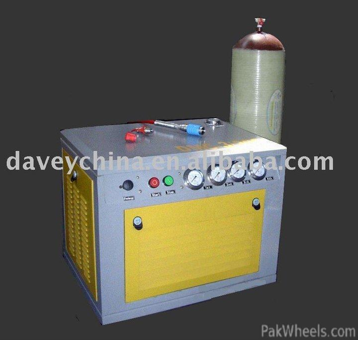 small natural gas compressor. is this compressor available in pakistan to compress natural gas @ home,i think it will take several hours fill ur car night? small p