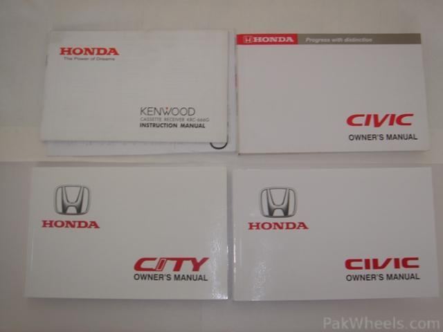 Honda Owners Manual >> Fs Owner Manuals For Civic And City Car Parts Pakwheels Forums