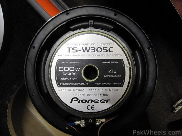 pioneer 15 inch subwoofer. these are seling at 119 \u20ac pounds per piece that is around 16,500 rupees pioneer 15 inch subwoofer