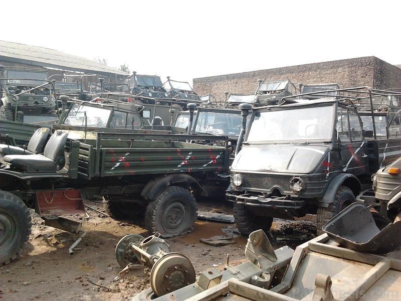 Mercedes unimog scrap yard spotted spotting hobbies for Mercedes benz scrap yard