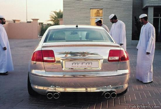 audi a8 car made of silver! - body work/appearance - pakwheels forums