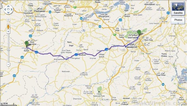 Short Trip To Kohat Road Trips Vacations Hiking Trekking - Kohat map