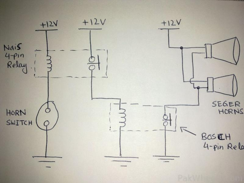 Negative Trigger Horn Relay Wiring. Coil Wiring, Horn Symbol, Horn on