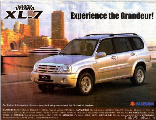 Suzuki Grand Vitara Xl 7
