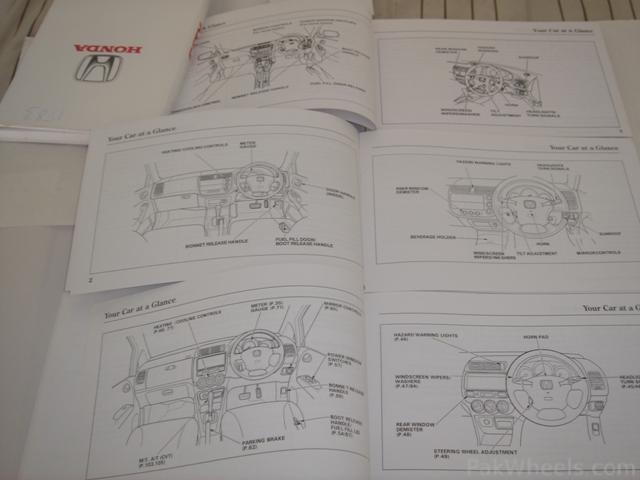 Fs Owner Manuals For Civic And City
