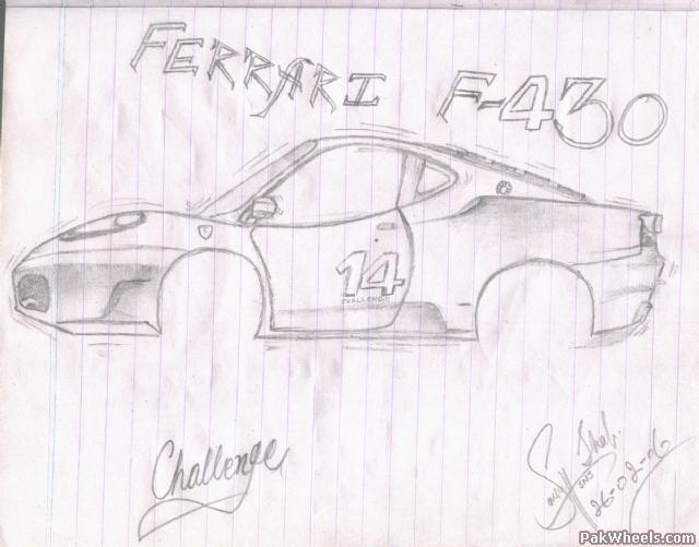 Sketches Of Ferrari F430 Challege Bugatti Veyron
