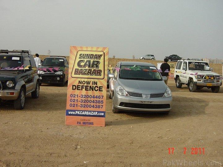 sunday car bazaar now in defence karachi   motor shows    motor sports