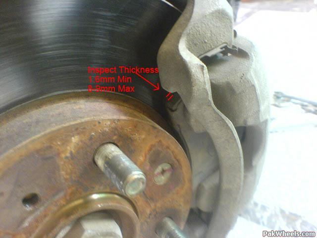 Minimum Thickness For Brake Pads : Diy honda city brake inspection and replacement d i y