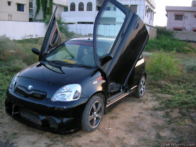 modified vitz with lambo door kit vintage and classic cars pakwheels forums. Black Bedroom Furniture Sets. Home Design Ideas