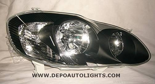 2005 Corolla Smoked Headlights For Genuine Price 2800 Cntact 03219964969