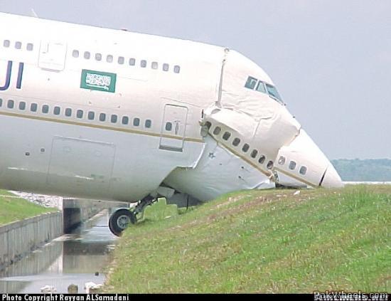 Saudi Airlines B747 300 Crashed Pics