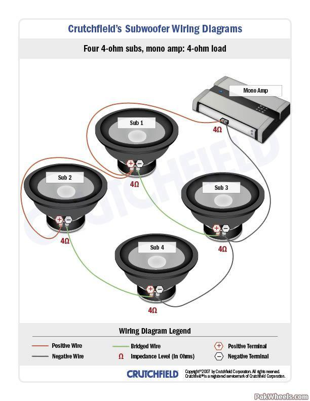 dual xpr4640 car amp wiring diagram subwoofer wiring diagrams big 3 upgrade - in-car ... mono car amp wiring diagram