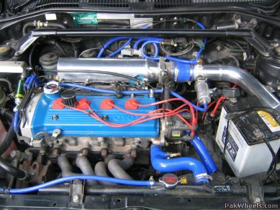 Starlet-86 modification of Engine 4EFTE - Mechanical