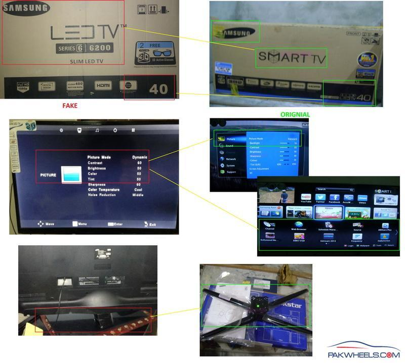 Samsung and Sony Fake 3D LED Products in Lahore ISB and Other Cities