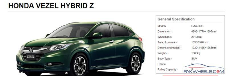 honda vezel hrv crz   cc engine general car discussion pakwheels forums