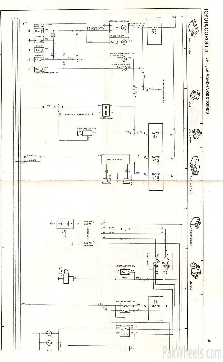 Toyota Corolla Repair Manual For Ee90ae92 From 1987 91 1988 Ae92 Wiring Diagram Electrical Diagrams