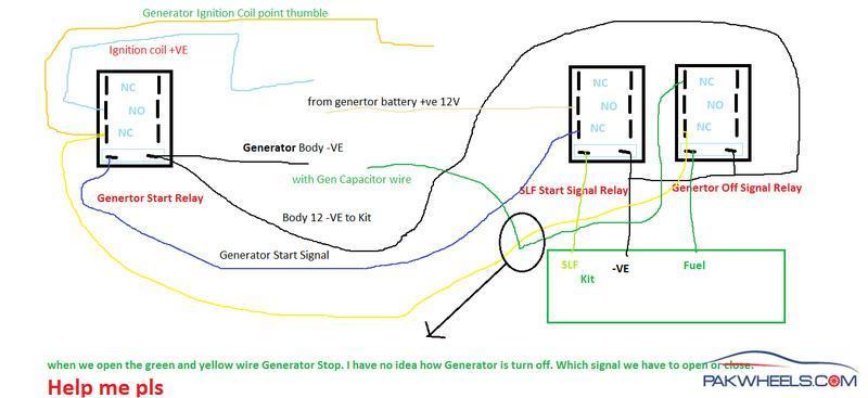 ups ats circuit diagram