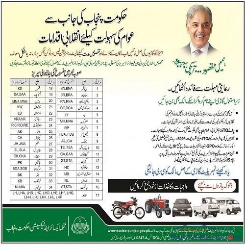 Cancelled registration number series of lahore punjab for Where can i get a motor vehicle report