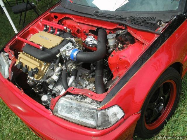 Pics: Honda Civic V6 Swap - Civic - PakWheels Forums