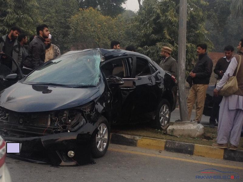 it happened today in dha lahore near lums there were no casualties alhamdulillah but car is messed up really bad