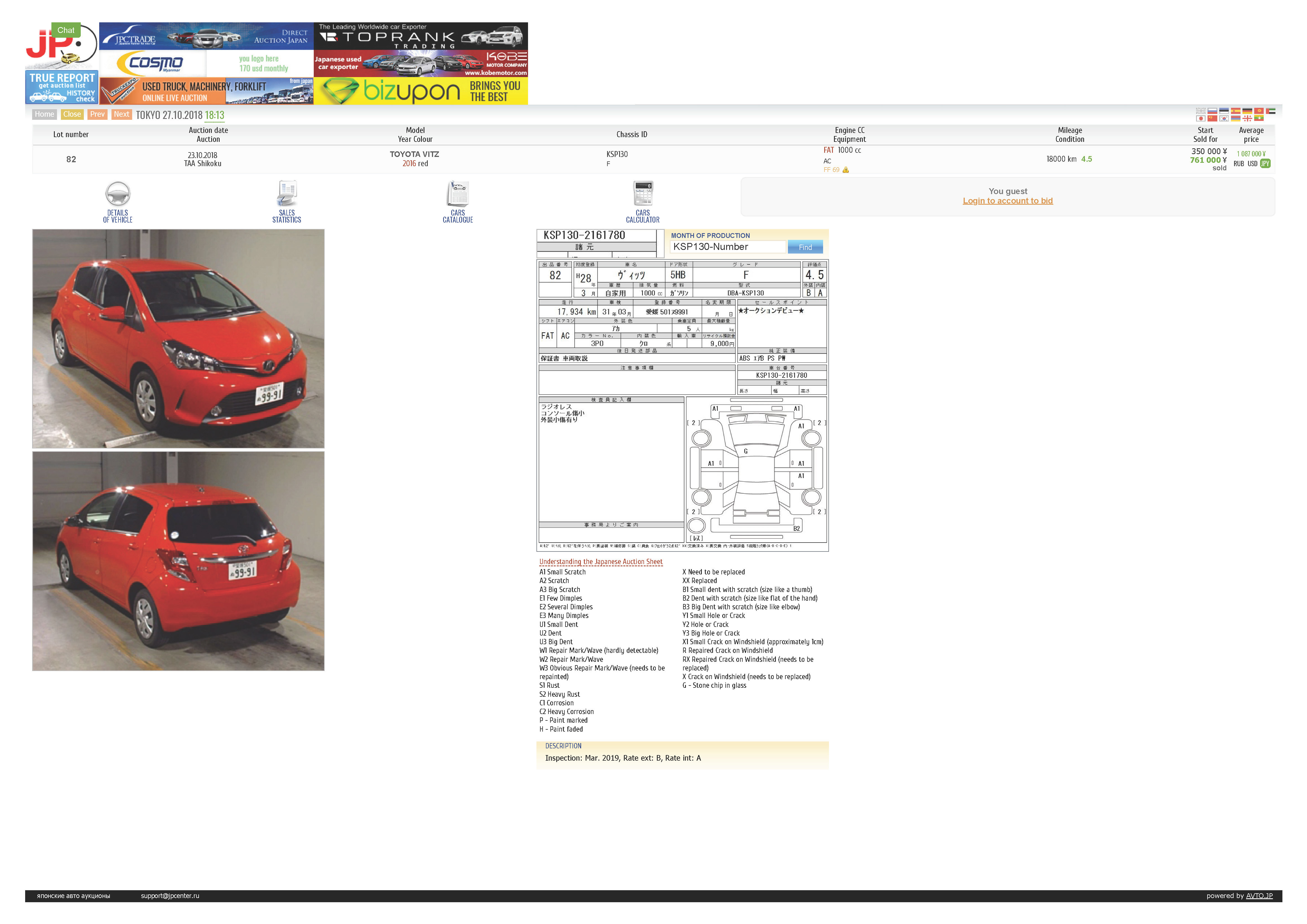 My JDM Toyota Vitz in Super RED Color (2015 model