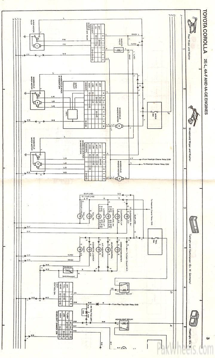 Toyota Altis Meter Wiring Diagram Reveolution Of 2002 Corolla Repair Manual For Ee90 Ae92 From 1987 91 Rh Pakwheels Com 1993 Pickup