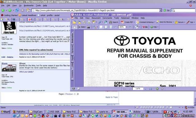 toyota echo owners manual pdf