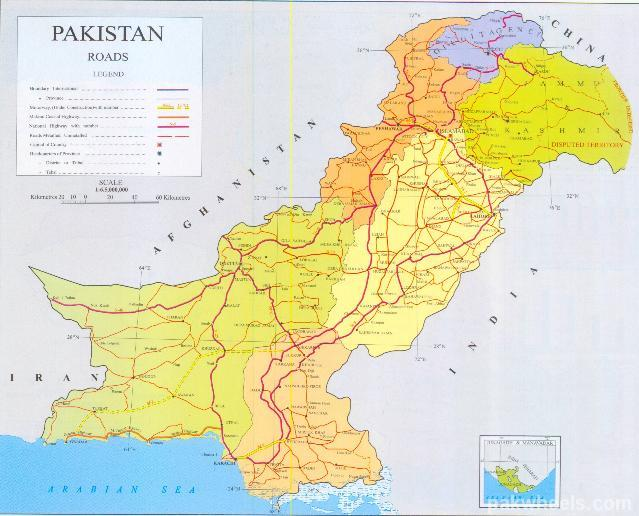 Pakistan Detailed Road Map Ask Travel Gurus PakWheels Forums - Map pakistan