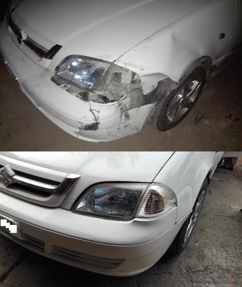 Cultus bumper's, Indicator and dent repairing cost estimate