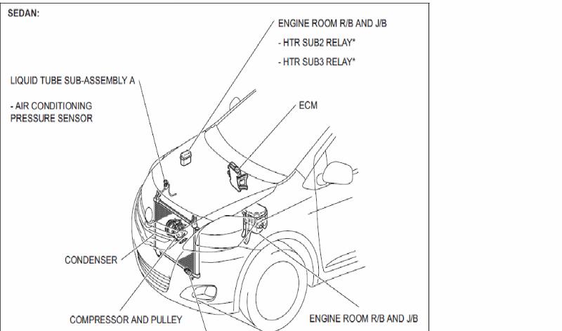 vitz original compressor wiring - vitz  yaris