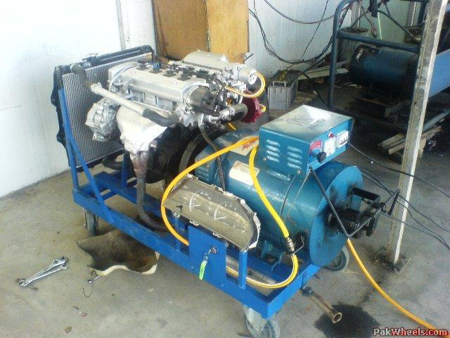 Can car engine replace home generator