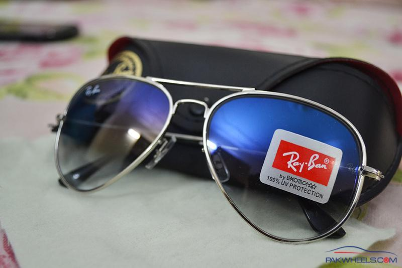Crystal Blue Rayban Aviator Sunglasses (1st Copy) - Non Wheels ... 873b1dd46a67