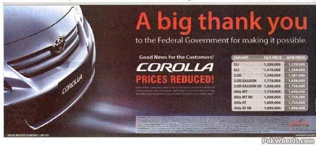 Toyota Indus Corolla 2008 Official Thread Corolla