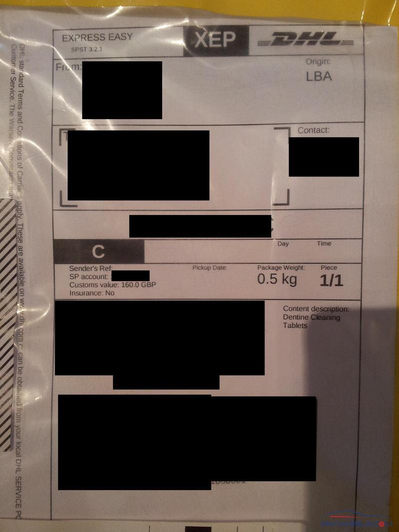 Excessive government charges on a DHL package - Non Wheels