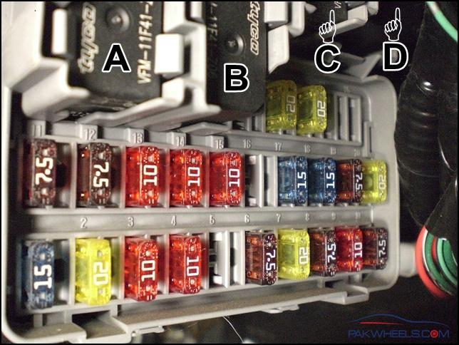 Civic 2001 2005 Fuse And Relay Info Civic Pakwheels Forums