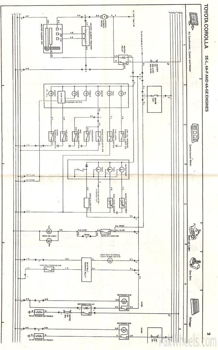 toyota corolla repair manual for ee90,ae92 from 1987 91 corollaelectrical wiring diagrams