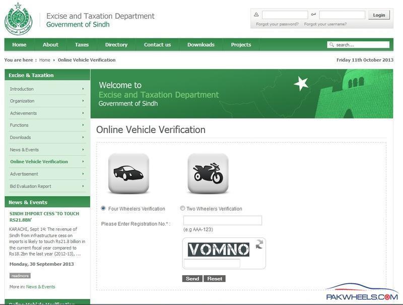 Karachi Number Vehicle Check Vehicle Documentation