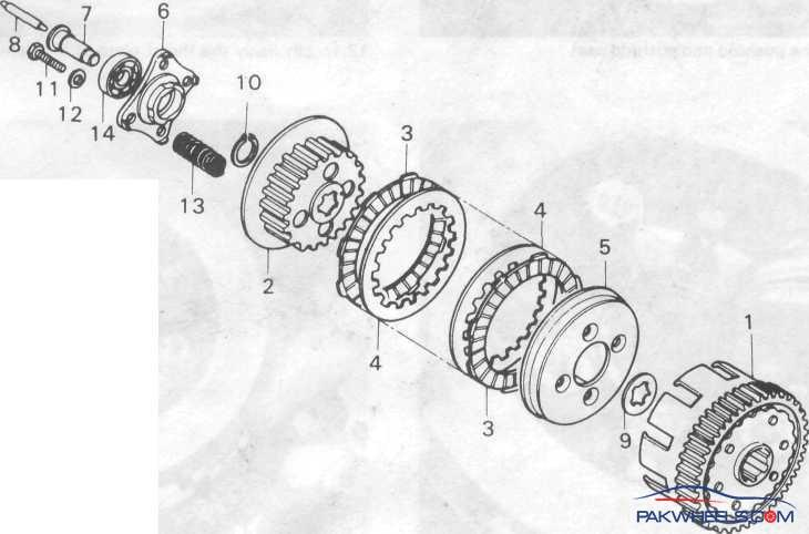 Honda Cg 125 Engine Diagram