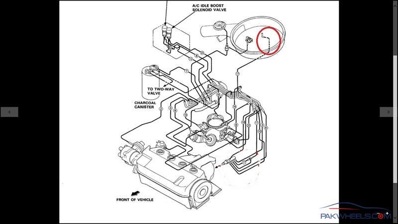 How to purge the colling system of a 95 Civic - Civic ...  Civic Engine Vacuum Diagram on