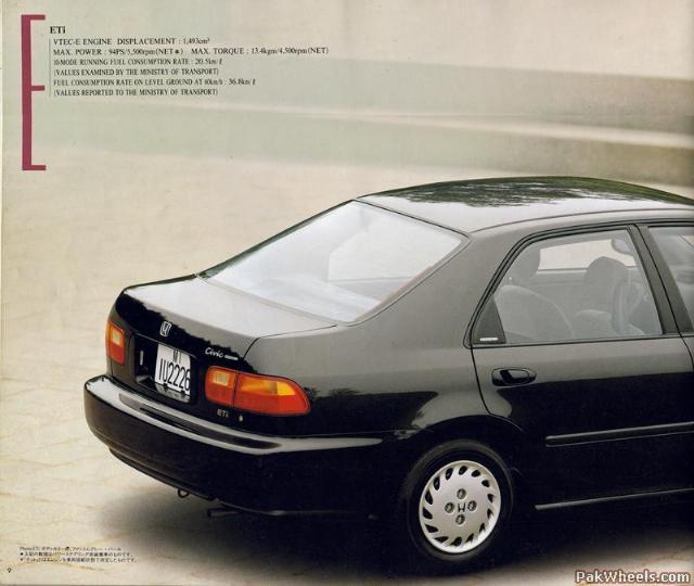 92-95 Civic Sedan JDM Brochure