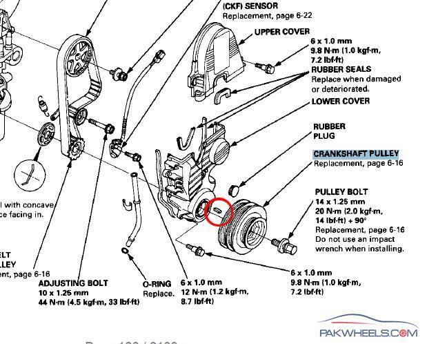 crankshaft pulley came off while driving mechanical  electrical pakwheels forums D16Z6 Specs D16Z