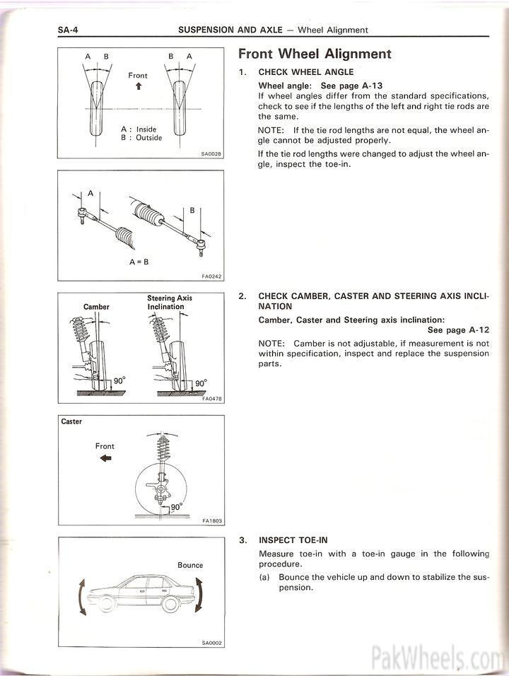 Toyota Corolla repair manual for EE90,AE92 from 1987 91