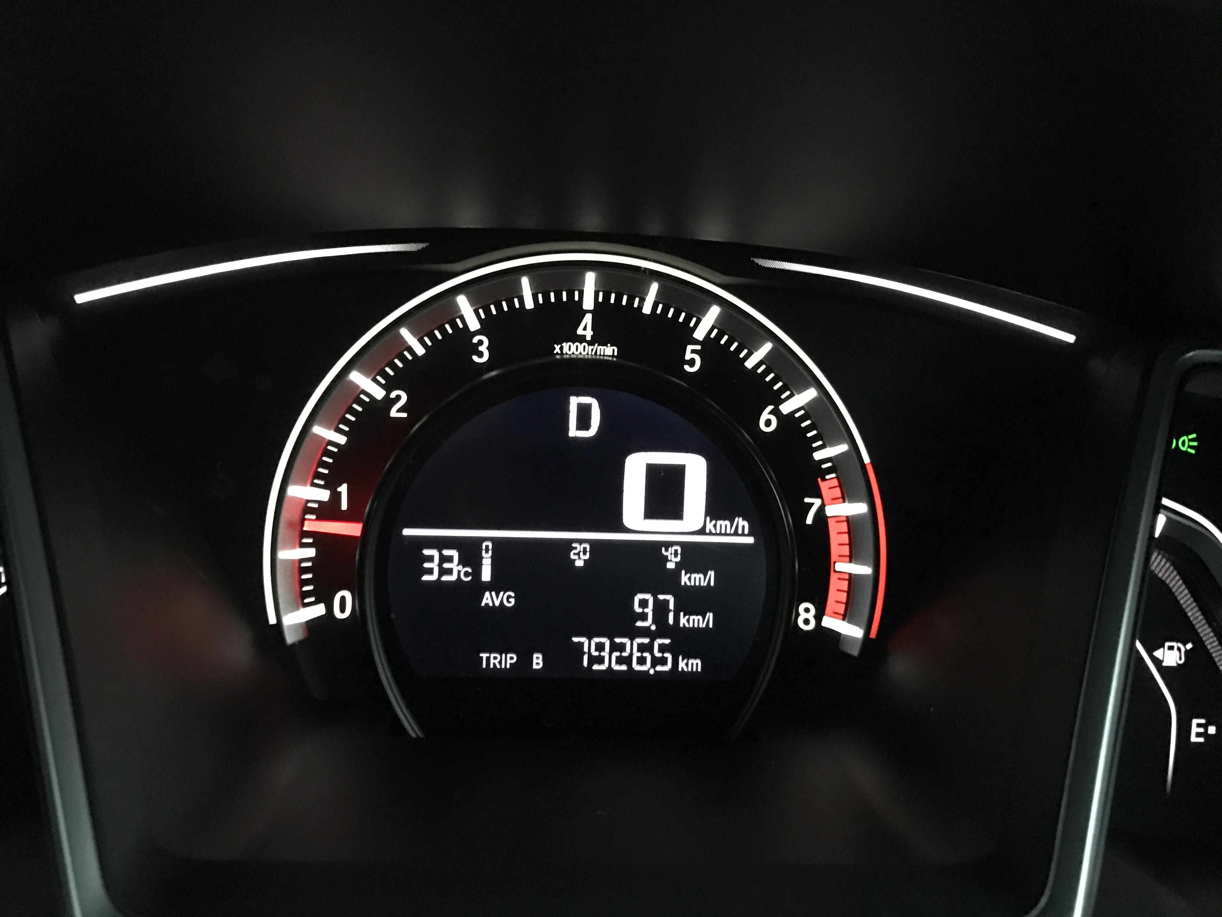 Average fuel consumption