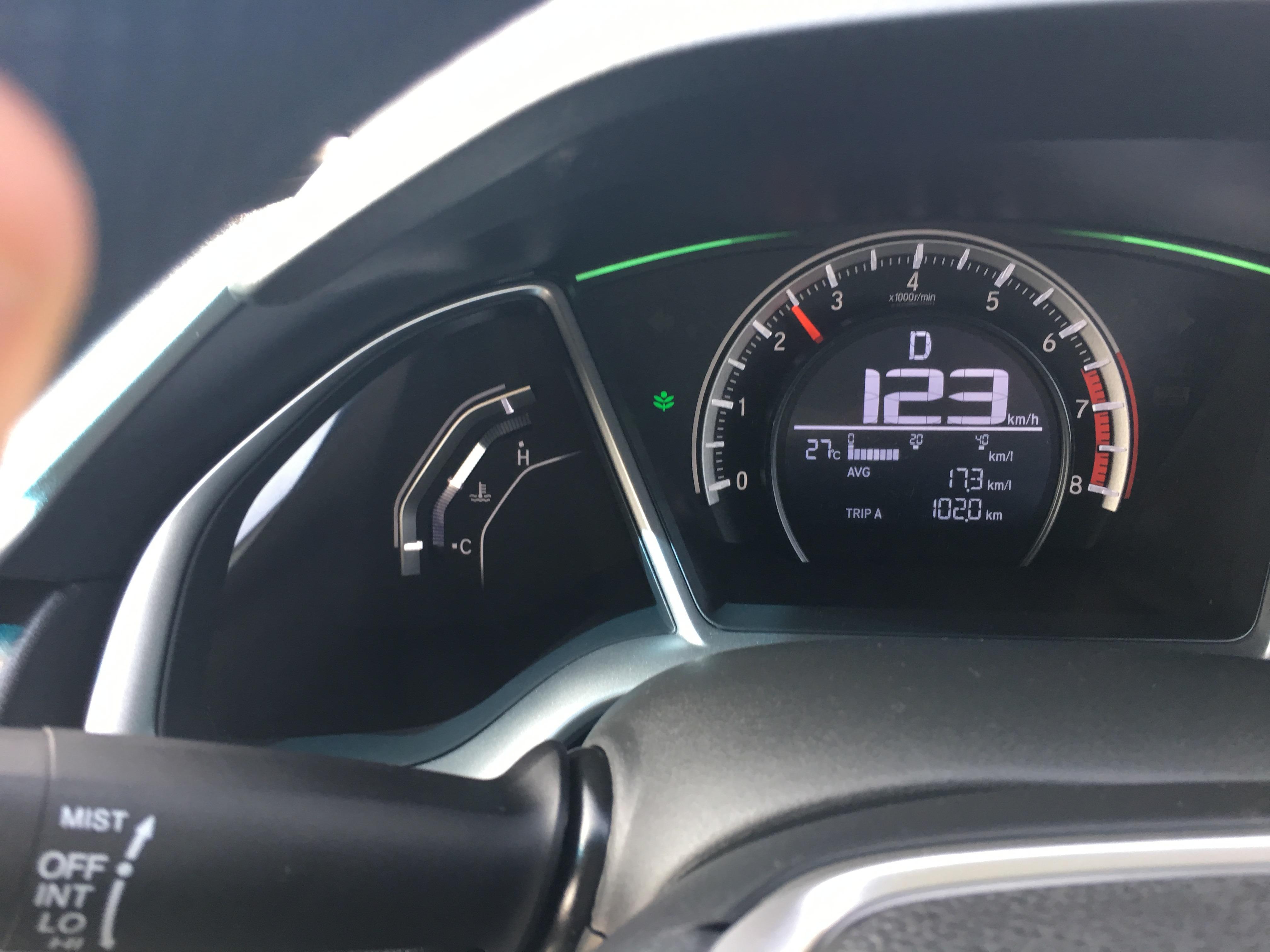 Civic X fuel consumption current calculations - Honda